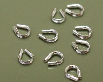 Sterling Silver Findings Wire Guards - Select Pack Size