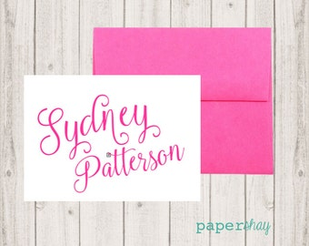 Personalized Stationery, Personalized stationary,  Monogram stationery, Monogram Note Cards, Personalized Notecards, Name Note cards