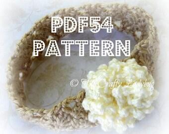 Swirl flower headband pattern - PDF54 - Newborn to adult sizes
