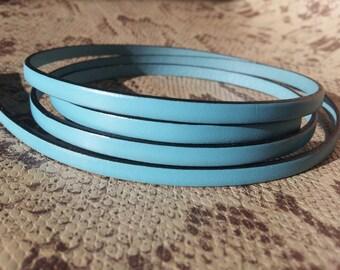 5mm flat Blue high quality European leather strap