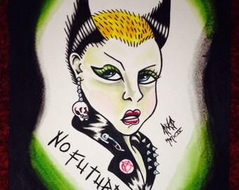 No Future Soo Original Punk Art