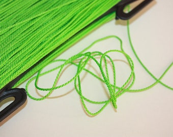 1.5 mm TWISTED GREEN Cord = 1 Spool = 110 Yards = 100 Meters of Elegant Polypropylene Rope Great for Macrame Sewing Crocheting Knitting