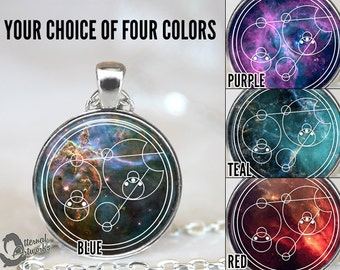 Your Name, Phrase, Date in Gallifreyan, Doctor Who Pendant, Custom Personalized Jewelry