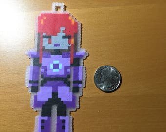 Silver (Robot Lady) - Oneshot Perler Bead Art
