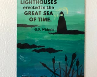 Book Quote Lighthouse Magnet