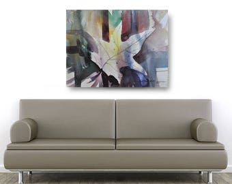 Leaf Abstract, African American Art, Canvas Art, Canvas Wall Art,Home Decor Art, Canvas Painting,Abstract Art, Wall Art