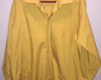 Vintage 70's Mustard Yellow Button Down / size 17 / by D'amante