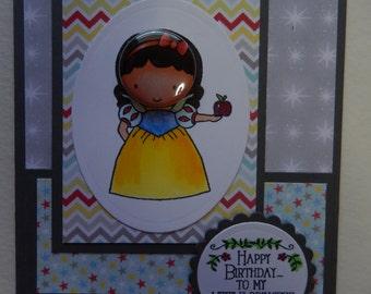 Snow White Birthday Card