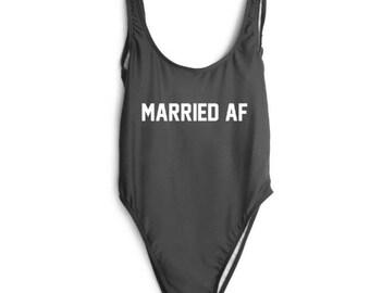 Married AF Bathing suit, swim suit, one piece