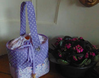 Matching fabric knitting bag