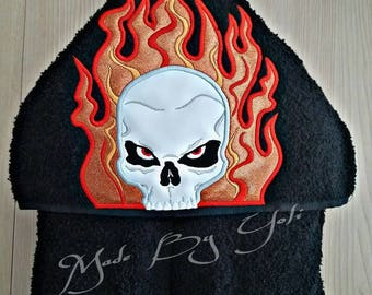 Embroidery Design Digitized Ghost Rider Applique 5 x 7