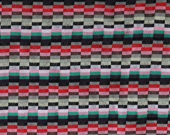 SALE - Fabric - Multicoloured jacquard light/medium weight knit – 2.00 metre piece