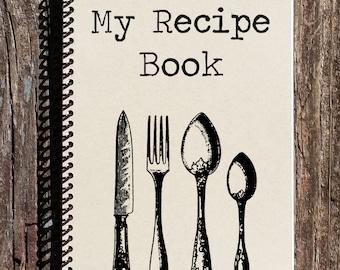 Recipe Book - Recipe Journal - My Recipes - Notebook - Journal