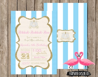 Cinderella Inspired Birthday Invitation