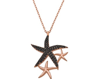 Silver Starfish Pendant - IJ1-2049