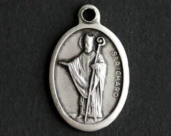 Saint Richard Medal. Catholic Pendant. St Richard Pendant. Saint Richard Charm. Catholic Saint Medal. 25mm x 16mm (Qty 1)
