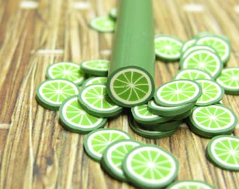 polymer clay cane uncut lime 1pcs for miniature drinks foods desserts decoden and nail art supplies 5mm diameter
