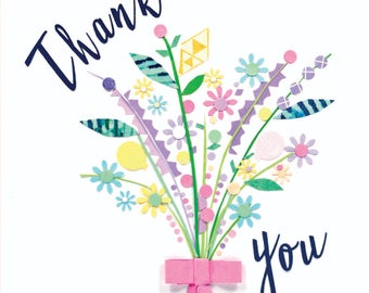 Greeting card, Thank you, blank inside
