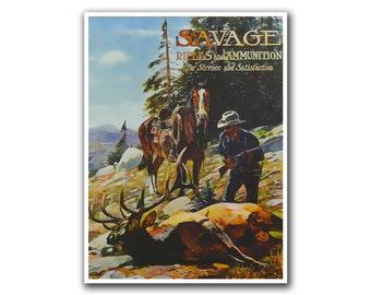 Hunting Wall Art Travel Poster Decor Retro Print (H55)