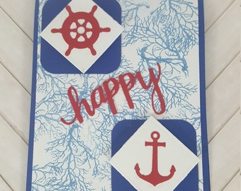 Happy Father's Day Greeting Card - Nautical Father's Day Card