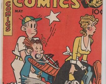 Magic Comics; Vol 1, 106 Golden Age Comic Book.  FN- (5.5). May 1948.  Dave McKay Productions