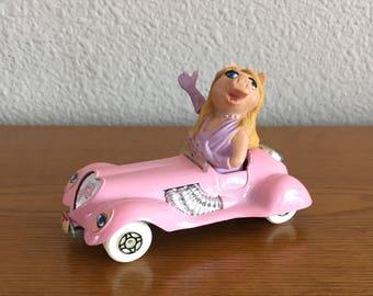 1979 Corgi Miss Piggy Die Cast Car- 1979 Muppet Corgi Toy Car- Miss Piggy in Pink Convertible