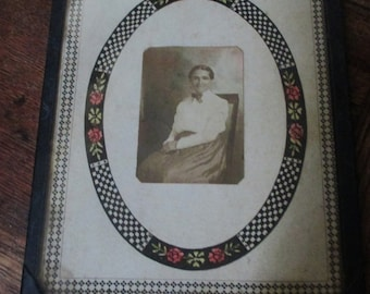 Antique Photo, Mat, and Frame Charming Primitive Antique