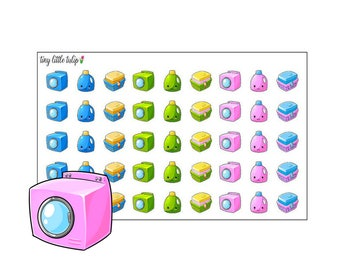 Planner Stickers Laundry