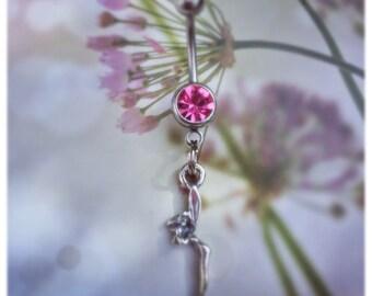 Petite Pixie , Fairy Bestiary , Navel Jewelry , Sterling Silver , Beltane Moon Etsy
