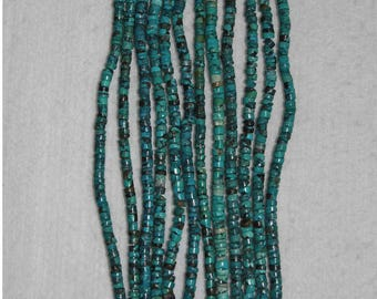 Turquoise, Turquoise Heishi, 4mm, Natural Stone, Blue Turquoise, Rondelle Bead, Natural Turquoise, Semi Precious, Full Strand, AdrianasBeads