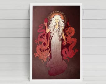 Mother print signed Poster Art Print - 11x14