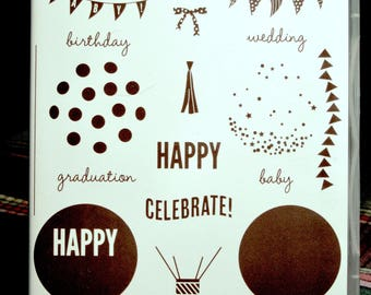 NEW!! Stampin' Up! Celebrate Today retired photopolymer stamp set (17)