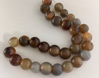 Agate Beads - 30 beads approximately 7mm