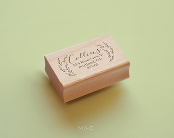 Holly - Botanical Collection - Personalized Stamp