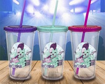 Rocktopus / Rockstar Octopus // Tumbler / Straw / Reusable Cups