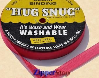 "RANCHO RED - Hug Snug SEAM Binding - 100 Yard Roll 1/2"" Wide // Zipperstop - Hundreds of Colors!"
