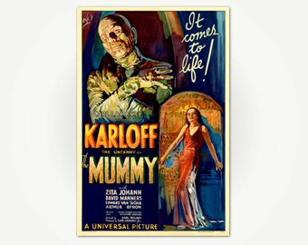 The Mummy Vintage Movie Poster Print - Vintage Horror Movie Poster Art