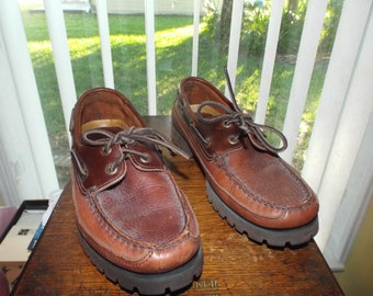 Vintage Fashion Mens Sperry Shoes Leather Size 7