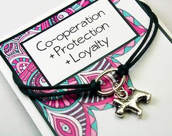 Wish Bracelet - Intention Bracelet - Dog Charm Bracelet - Protection - Loyalty - Co-Operation - Set your Intent INT016