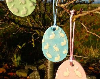 Handmade Ceramic Hanging Easter Egg