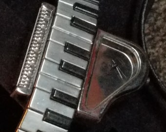 Vintage Piano Watch and Band