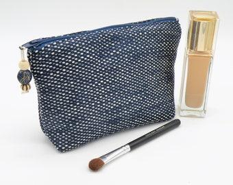 Pouch makeup Kit makeup storage bag, travel pouch, blue