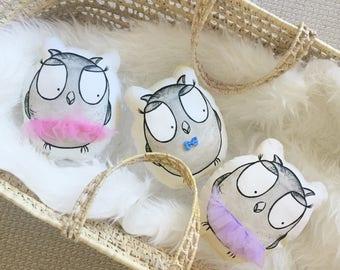 owl plush pillow, ballerina toy decor, plush animal, owl plushie, baby toy, baby pillow, ballerina doll, owl nursery decor, soft baby toy