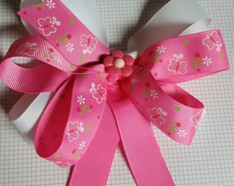 Spring butterfly pinwheel bow
