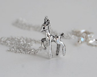 Always | Silver Deer Necklace | Little Deer Necklace | Magical Doe Necklace