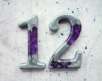 Any Two or More Decorative Numbers, 3D Resin Numbers for Home Decor.
