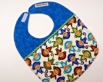 Baby Bib-Baby Boy Bib- Owls- Toddler Bib-Infant Bib-Baby Girl Bib