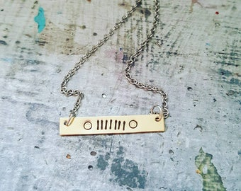 Brass handstamped jeep lover bar necklace | jeep jewelry | jeep necklace | jeep lover | jeep girl | handstamped | bar necklace
