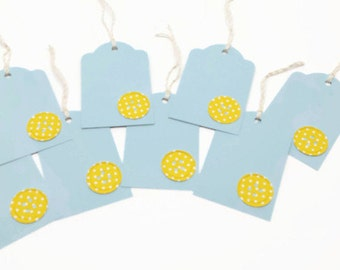 Button Gift Tags, Baby Gift Tags, Shower Gift Tag, Baby Shower, Hang Tags. Set of 8