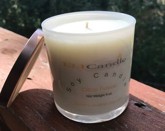 Citrus Fusion 9 oz Soy Candle